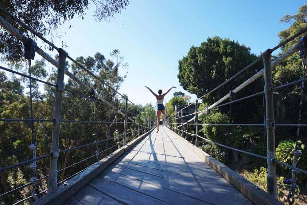 Puente de suspención en San Diego