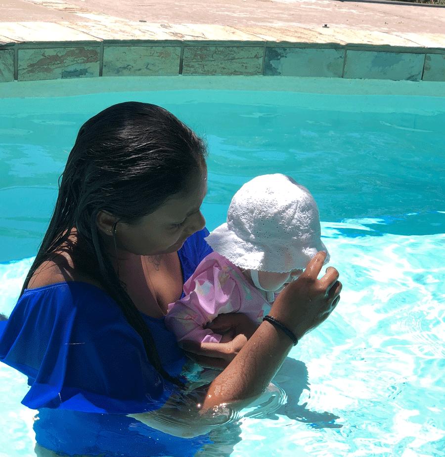 Cuidando a un bebé